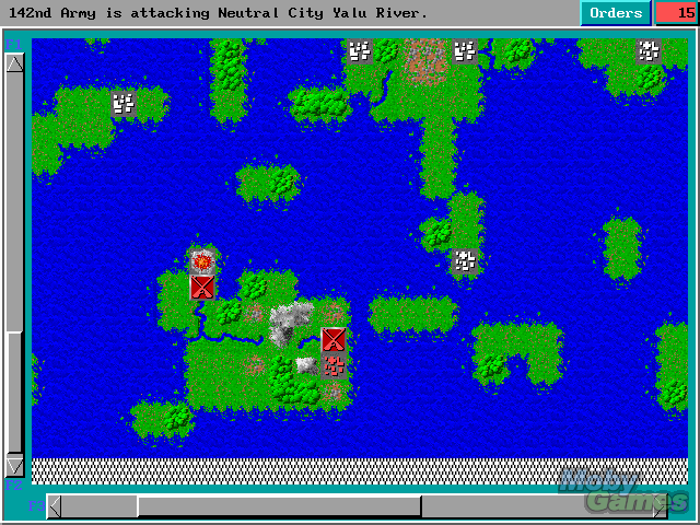 193696-empire-deluxe-dos-screenshot-attacking-the-neutral-city-s